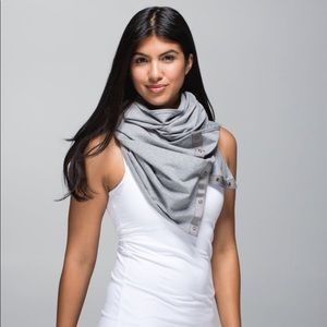 Lululemon Vinyasa Scarf Wrap Gray French Terry